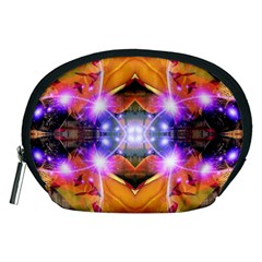 Abstract Flower Accessory Pouch (medium)