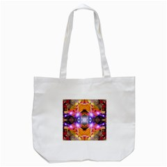 Abstract Flower Tote Bag (White)