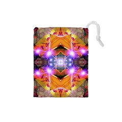 Abstract Flower Drawstring Pouch (small)