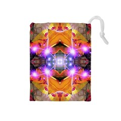 Abstract Flower Drawstring Pouch (Medium)