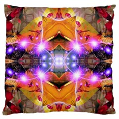 Abstract Flower Large Flano Cushion Case (One Side)