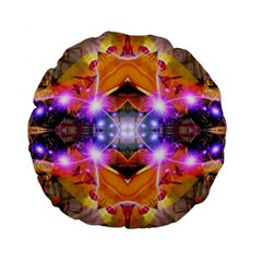 Abstract Flower Standard Flano Round Cushion