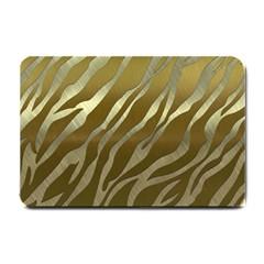 Metal Gold Zebra  Small Door Mat