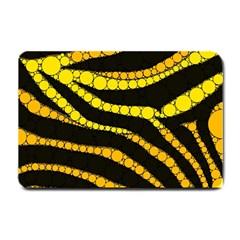 Yellow Bling Zebra  Small Door Mat