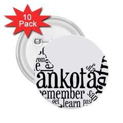 Sankofashirt 2 25  Button (10 Pack)