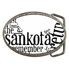 Sankofashirt Belt Buckle (oval)