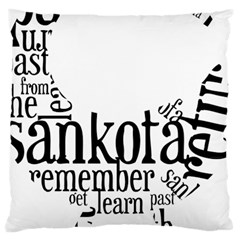 Sankofashirt Large Cushion Case (single Sided)