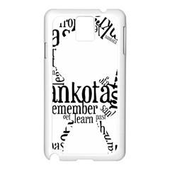 Sankofashirt Samsung Galaxy Note 3 N9005 Case (White)