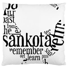 Sankofashirt Large Flano Cushion Case (One Side)