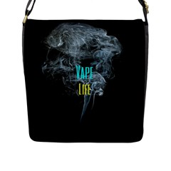 Vape Life Clouds  Flap Closure Messenger Bag (large)
