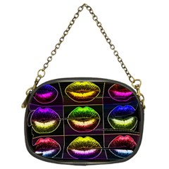 Sassy Lips  Chain Purse (two Sided)