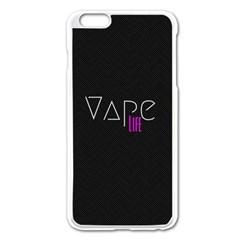 Vape Life Black Apple iPhone 6 Plus Enamel White Case