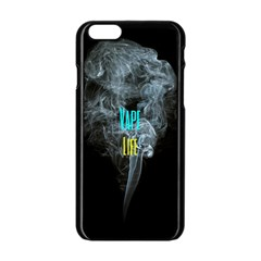 Vape Life Clouds  Apple Iphone 6 Black Enamel Case
