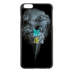 Vape Life Clouds  Apple iPhone 6 Plus Black Enamel Case