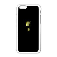 Vape Life Yellow  Apple iPhone 6 White Enamel Case