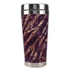 Lavender Gold Zebra  Stainless Steel Travel Tumbler