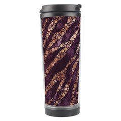 Lavender Gold Zebra  Travel Tumbler
