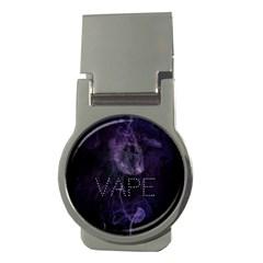 Vape Purple Smoke  Money Clip (round)