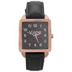 Vape Life  Rose Gold Leather Watch