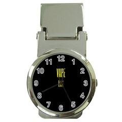 Vape Life Yellow  Money Clip With Watch