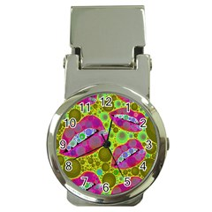 Sassy Lips Bubbles  Money Clip With Watch