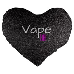 Vape Life  Large Flano Heart Shape Cushion