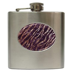 Lavender Gold Zebra  Hip Flask