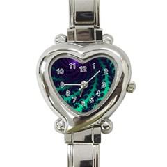 Sssssssfractal Heart Italian Charm Watch