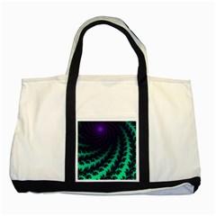 Sssssssfractal Two Toned Tote Bag