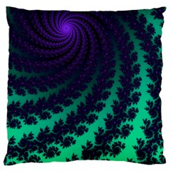 Sssssssfractal Large Flano Cushion Case (one Side)