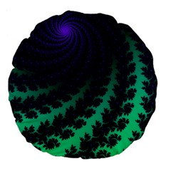 Sssssssfractal Large Flano Round Cushion