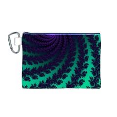 Sssssssfractal Canvas Cosmetic Bag (Medium)