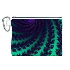 Sssssssfractal Canvas Cosmetic Bag (Large)