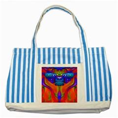 Lava Creature Blue Striped Tote Bag