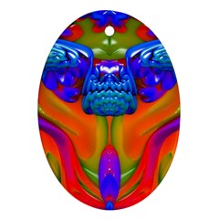 Lava Creature Oval Ornament (two Sides)