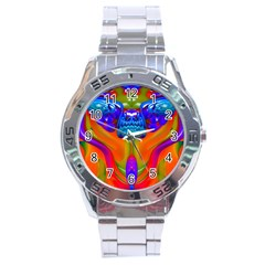 Lava Creature Stainless Steel Watch