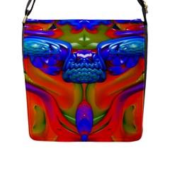 Lava Creature Flap Closure Messenger Bag (Large)