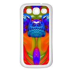 Lava Creature Samsung Galaxy S3 Back Case (white)