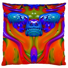 Lava Creature Large Flano Cushion Case (Two Sides)
