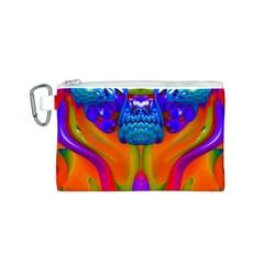 Lava Creature Canvas Cosmetic Bag (Small)