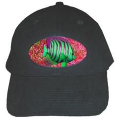Fish Black Baseball Cap