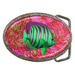 Fish Belt Buckle (oval)