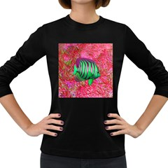 Fish Women s Long Sleeve T-shirt (Dark Colored)