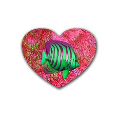Fish Drink Coasters 4 Pack (heart)