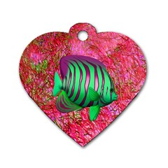 Fish Dog Tag Heart (Two Sided)