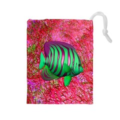 Fish Drawstring Pouch (Large)