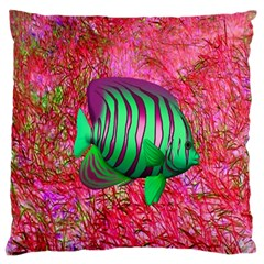 Fish Large Flano Cushion Case (Two Sides)