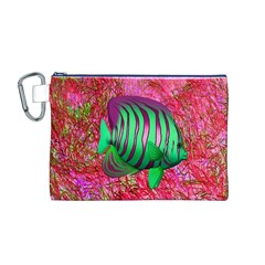 Fish Canvas Cosmetic Bag (Medium)