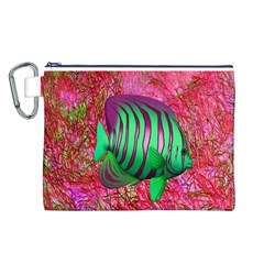 Fish Canvas Cosmetic Bag (Large)