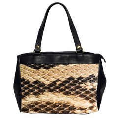 Snake Skin  Oversize Office Handbag (two Sides)